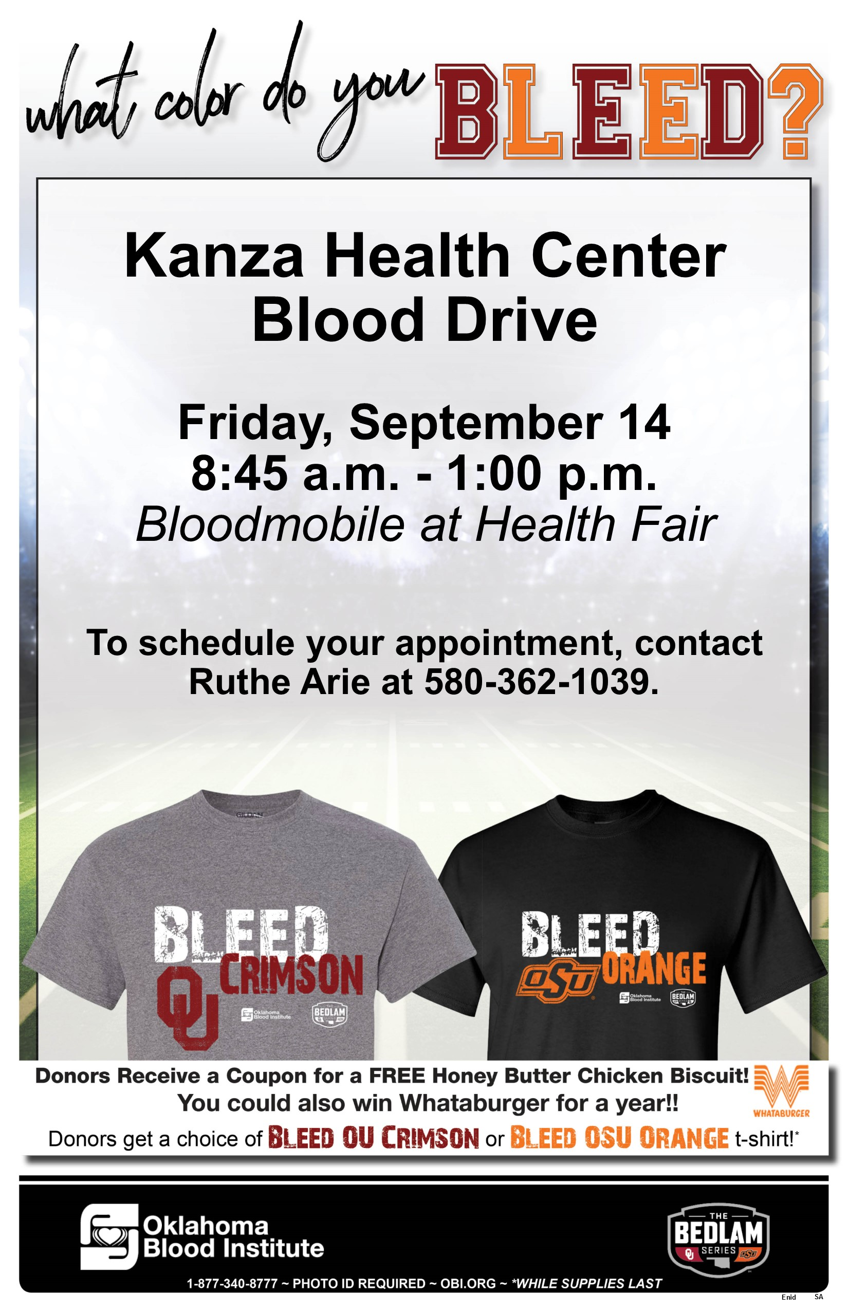 Kanza Health Center Blood Drive