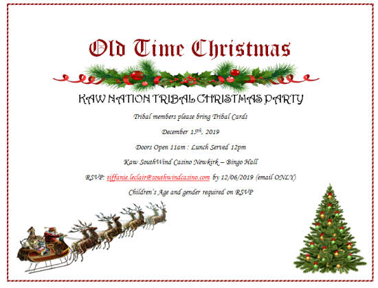 KAW NATION TRIBAL CHRISTMAS PARTY